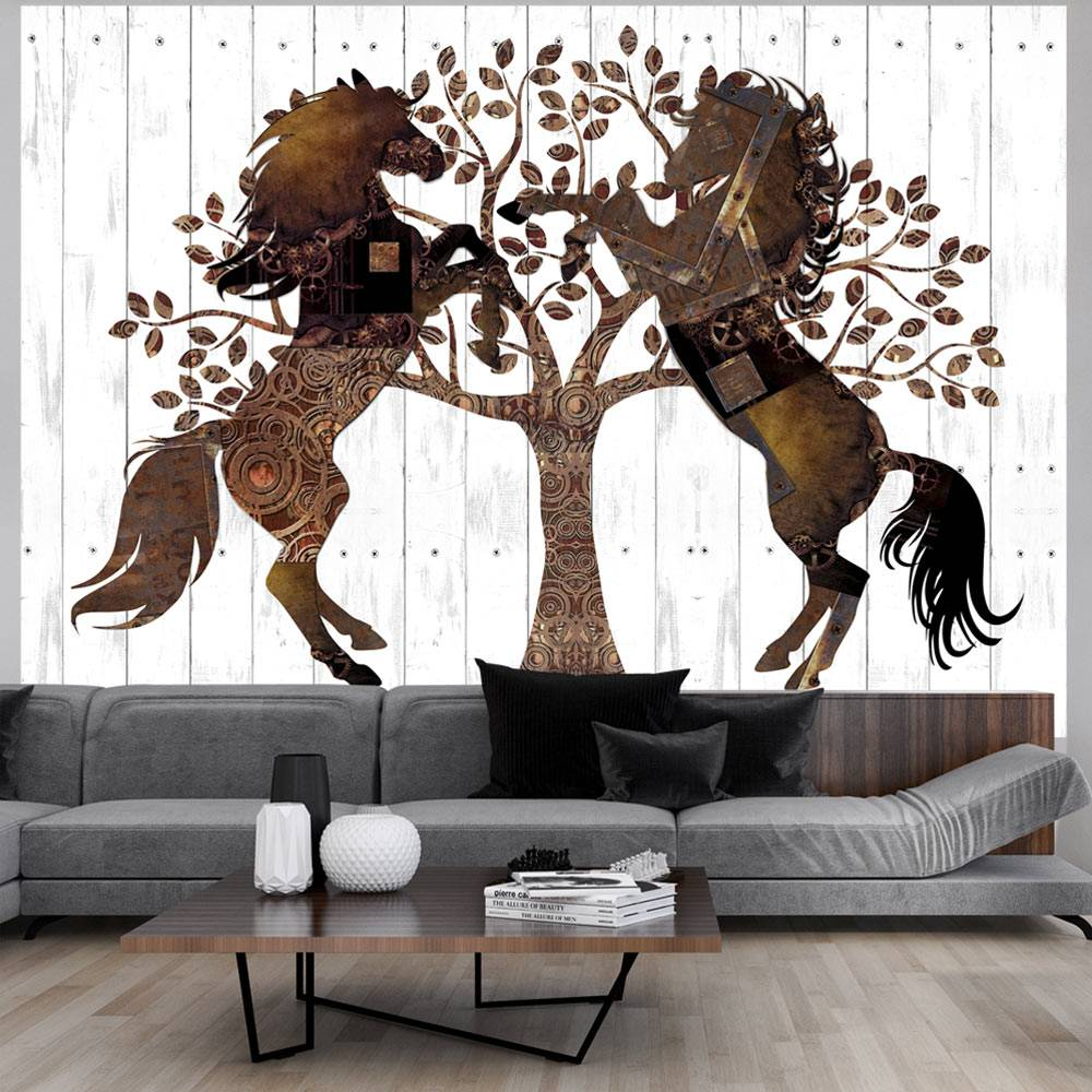 Fotobehang - Mechanical Horses