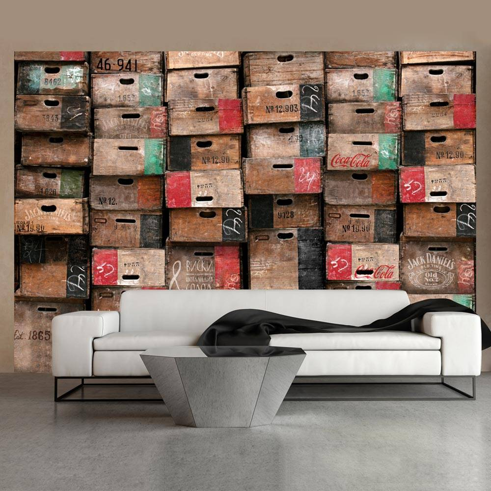 Fotobehang - Het magazijn , multi kleur