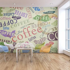 Fotobehang - Koffie op de muur