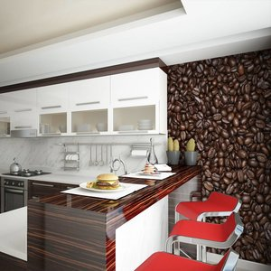 Fotobehang - Koffieboon , bruin zwart