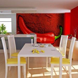 Fotobehang - Red hot chili pepper, rode peper