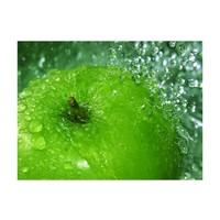 Fotobehang - Groene appel , wit