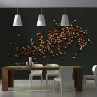 Fotobehang - Samenstelling van gekleurde peper