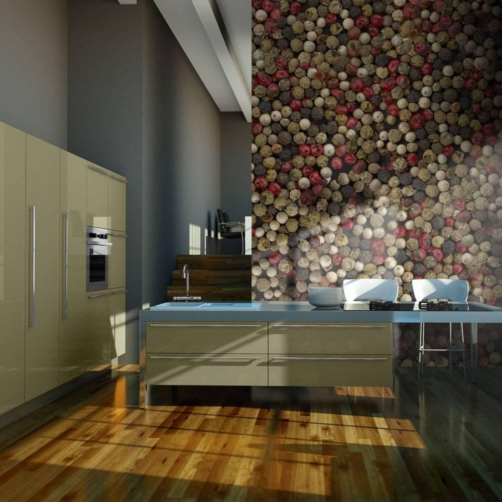 Fotobehang - Mozaiek van gekleurde peper , multi kleur