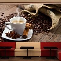 Fotobehang - Steranijs koffie , multi kleur
