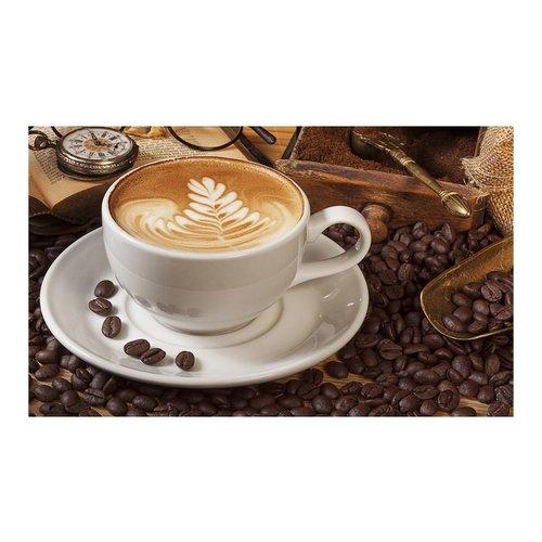 Fotobehang - Koffie met patroon , multi kleur