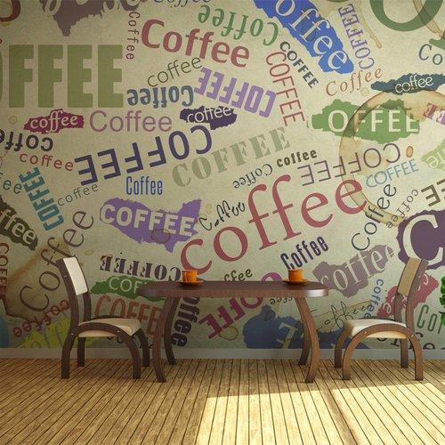 Fotobehang - Koffie op de muur , multi kleur