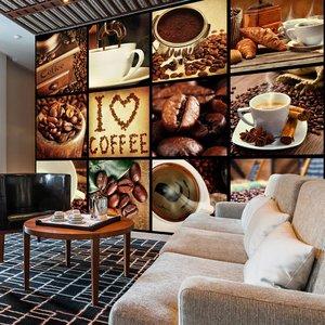 Fotobehang - Koffie- Collage , multi kleur