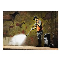 Fotobehang - Banksy - Cave Painting
