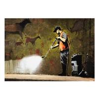 Fotobehang - Banksy - Grot tekening