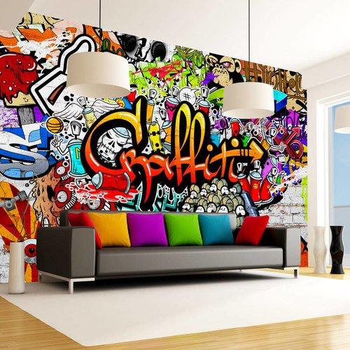 Fotobehang - Kleurrijke Graffiti