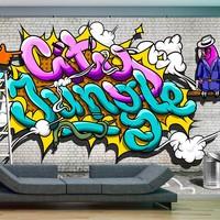 Fotobehang - City jungle - Graffiti
