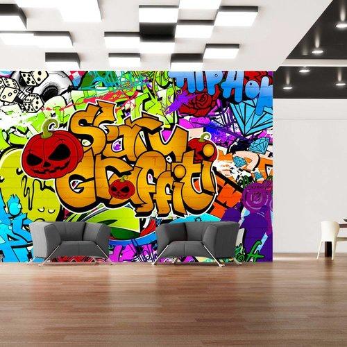 Fotobehang - Enge graffiti