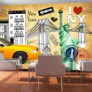 Fotobehang - One way - New York