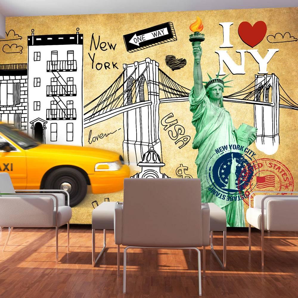 Fotobehang - I love New York