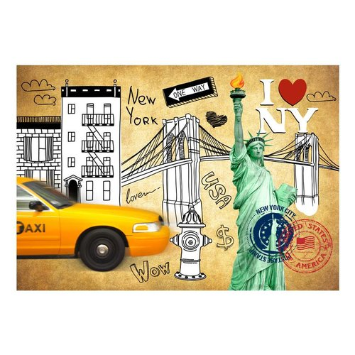 Fotobehang - I love New York