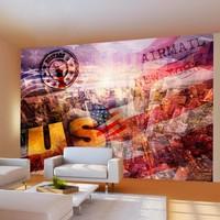 Fotobehang - New York - patriotic theme
