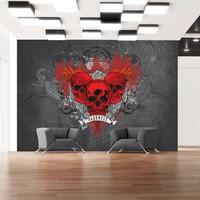 Fotobehang - Rode schedels