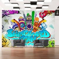 Fotobehang - Skateboard team - Graffiti