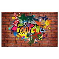 Fotobehang - Football fans - Voetbal- Graffiti
