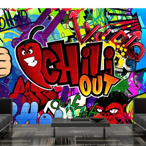 Fotobehang - Chili out - Graffiti
