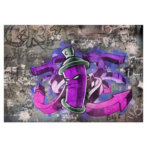 Fotobehang - Graffiti spuit bus