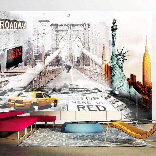 Fotobehang - Straten van New York - details