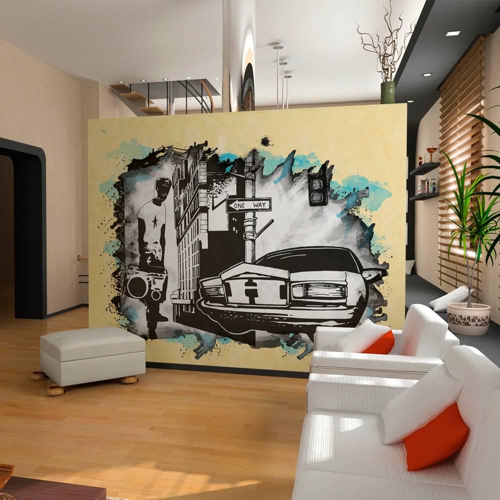 Fotobehang - Stedelijke atmosfeer - street art