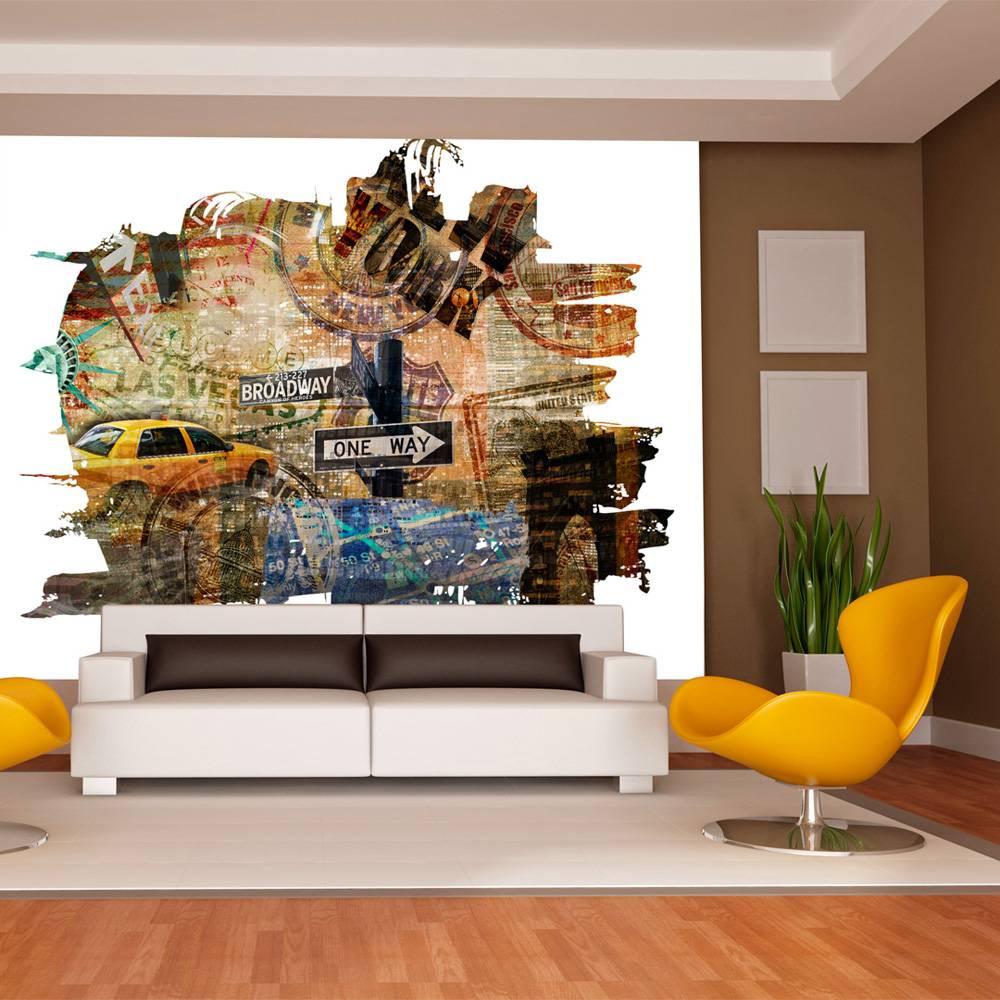 Fotobehang - New York collage