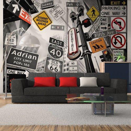 Fotobehang - New York City borden collage