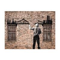 Fotobehang - Gebroken brug - Banksy