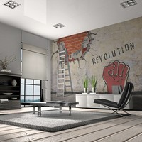 Fotobehang - The invisible hand of the revolution