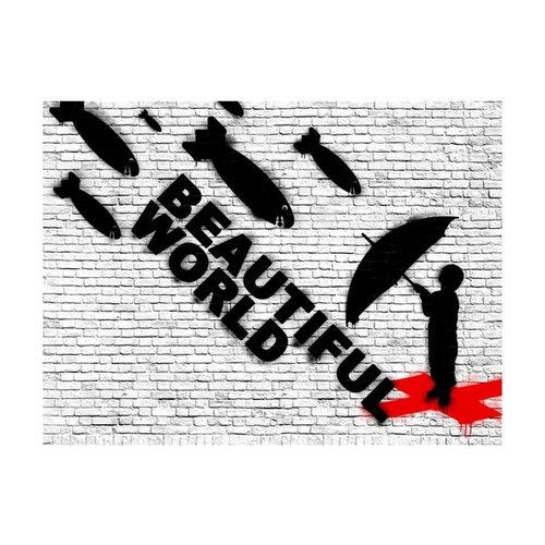 Fotobehang - Beautiful World - Banksy