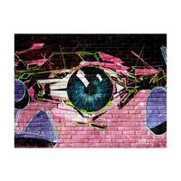 Fotobehang - eye (graffiti)