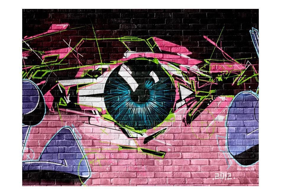 Fotobehang - Oog (graffiti)