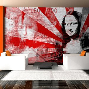 Fotobehang - Moderne collage met Mona Lisa motief