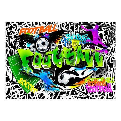 Fotobehang - Football Graffiti