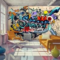 Fotobehang - Street Life, graffiti