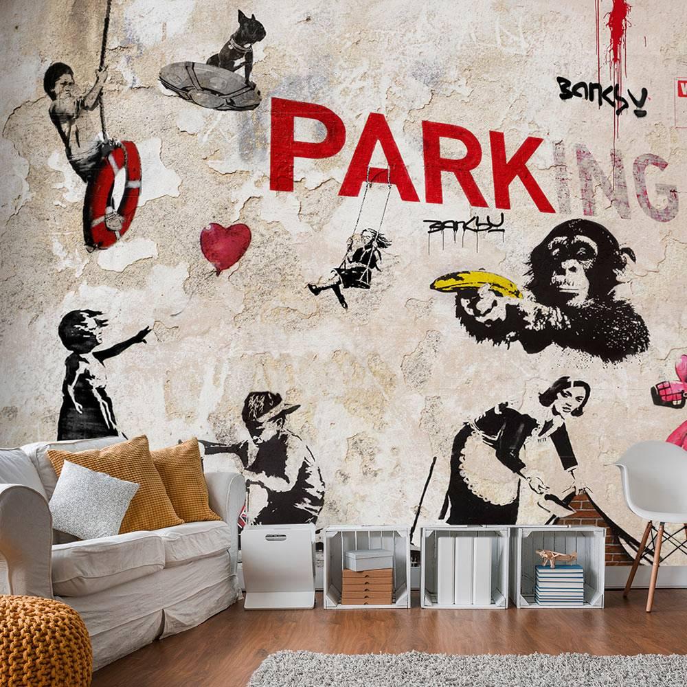 Fotobehang - [Banksy] Graffiti Collage