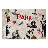 Fotobehang - [Banksy] Graffiti Collage