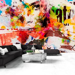 Fotobehang - City Collage, felle kleuren