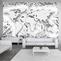 Fotobehang - Vliesbehang De wereld van kranten, zwart en wit