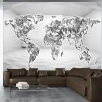 Fotobehang - Vliesbehang Diamanten wereldkaart, premium print