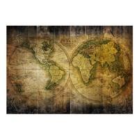 Fotobehang - Vliesbehang Op zoek naar de oude wereld, wereldkaart