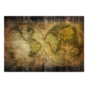 Fotobehang - Vliesbehang Op zoek naar de oude wereld, wereldkaart, premium print