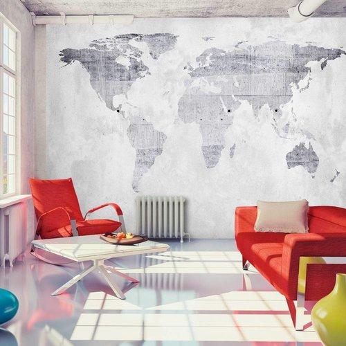 Fotobehang - Lichte wereldkaart