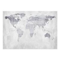 Fotobehang - Vliesbehang Lichte wereldkaart