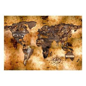 Fotobehang - Vliesbehang Opaalachtige  Continenten, premium print
