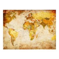 Fotobehang - Vliesbehang Oude wereld, wereldkaart