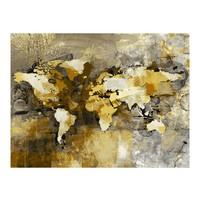 Fotobehang - Vliesbehang Artistieke kaart van de Wereld, wereldkaart